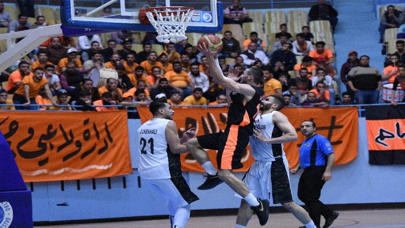 من مباراة الوحدة والجيش ضمن منافسات الدوري السوري لكرة السلة 30 نيسان 20191 (صفحة الاتحاد السوري لكرة السلة على فيس بوك)
