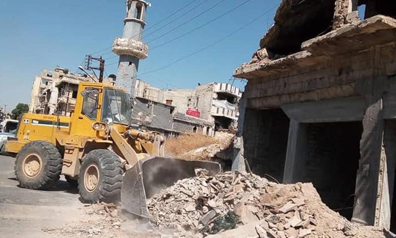 إزالة الأنقاض من حي الخالدية في حمص - 10 من تموز 2019 (مجلس مدينة حمص)
