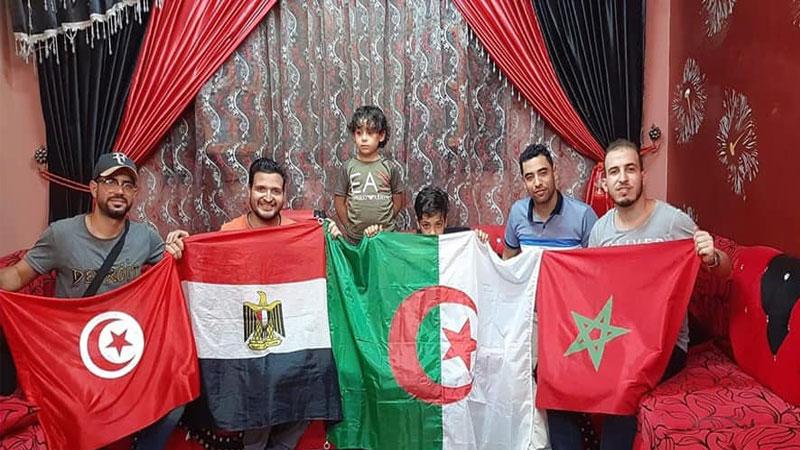 مشجعون من المغرب العربي 19 تموز 2019(صفحة Social Time على فيس بوك)