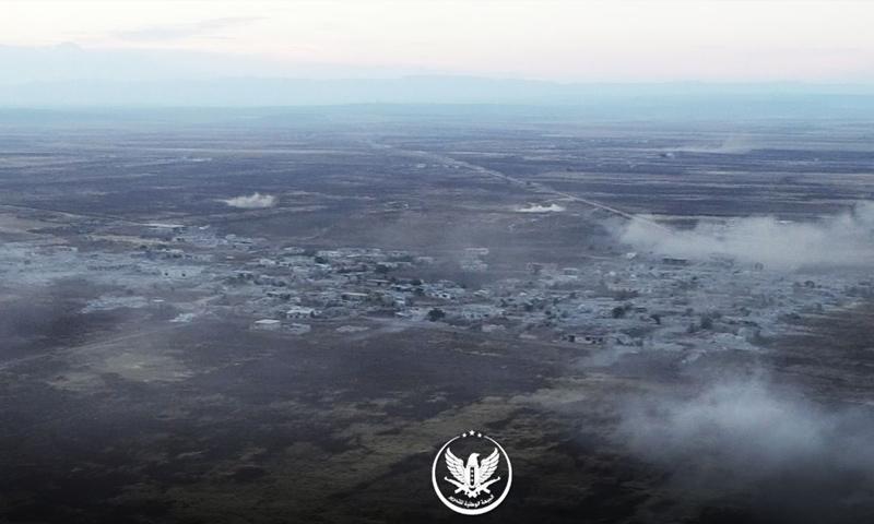 بلدة الحماميات في ريف حماة الشمالي قبل السيطرة عليها من قبل فصائل المعارضة - 10 من تموز 2019 (الجبهة الوطنية للتحرير)