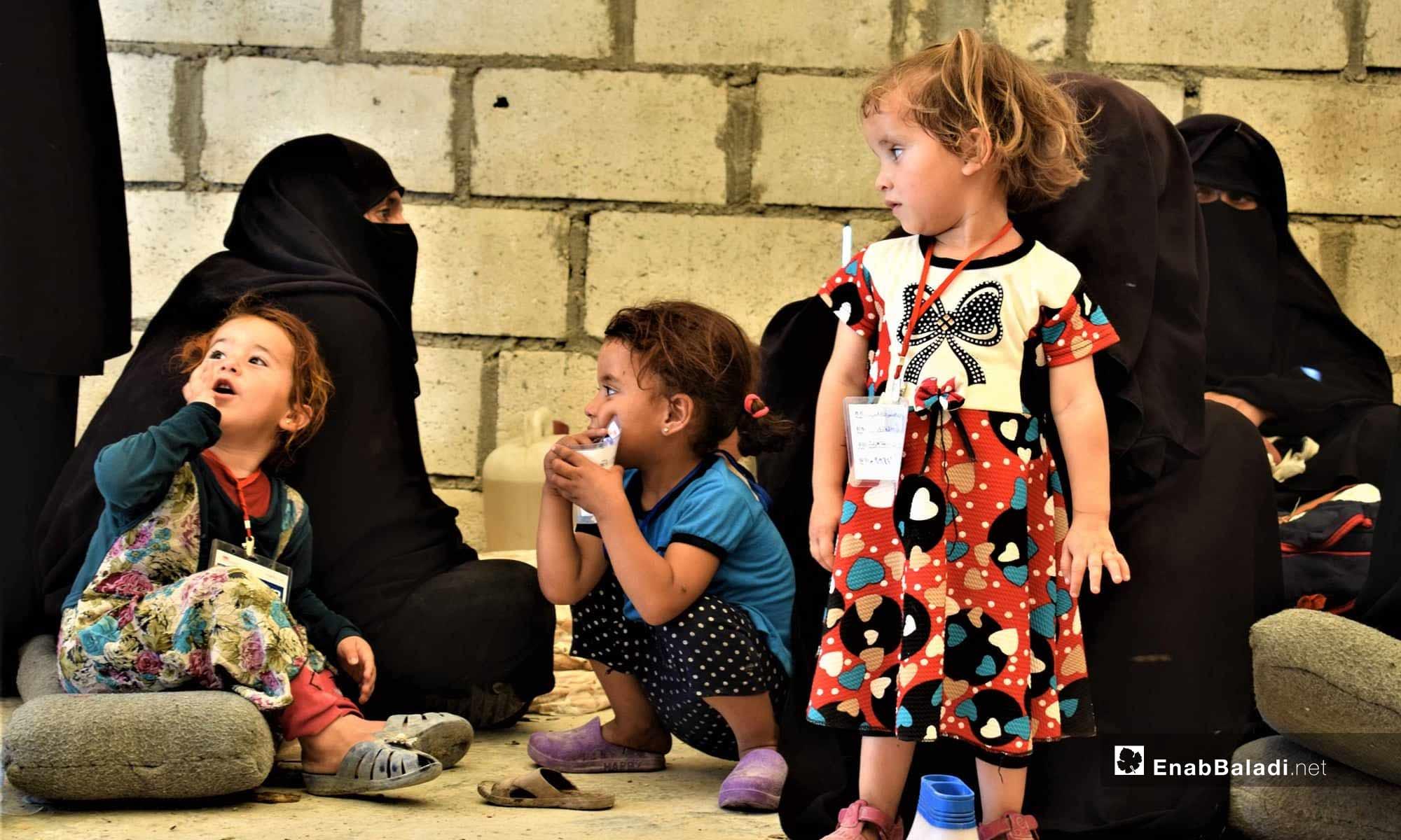 أطفال في مخيم الهول في شرق الفرات- 18 من تموز 2019 (عنب بلدي)