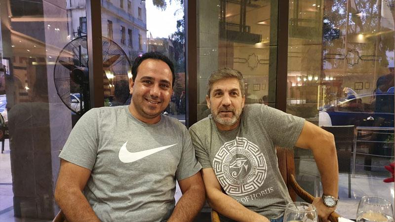 اللاعب محمد عفش- يمين واللاعب ماهر السيد- يسار 23 تموز 2019(صفحة ماهر السيد على فيس بوك)