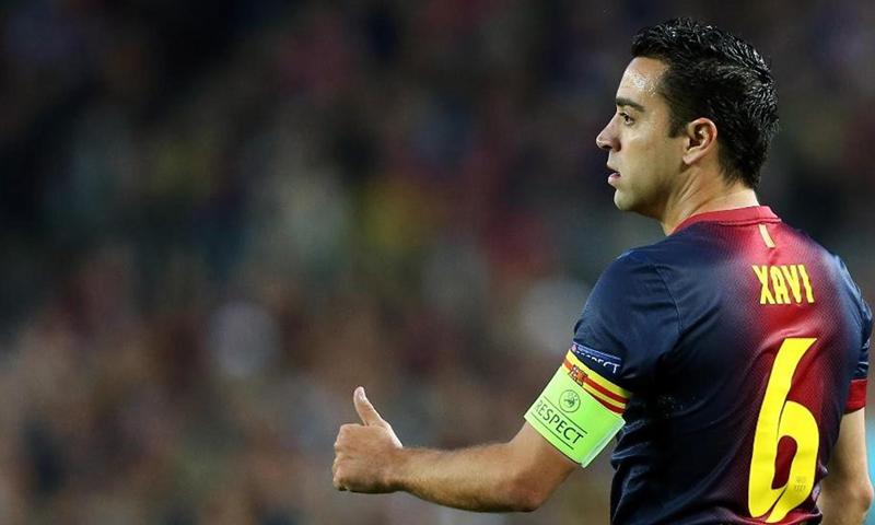 تشافي هيرنانديز لاعب خط وسط نادي برشلونة السابق والمنتخب الإسباني (يورو سبورت)