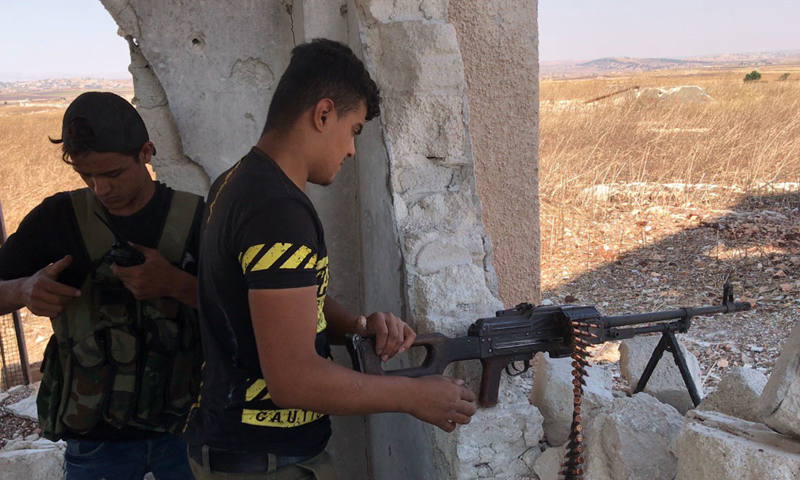 قوات النظام تسيطر على بلدة الهبيط بريف إدلب الجنوبي (OLEG BLOKHIN)