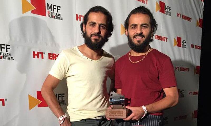 الأخوين ملص مع الجائزة 24 آب 2019 (صفحة الأخوين على فيس بوك)