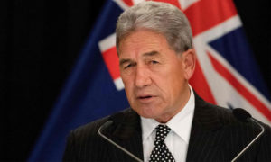 وزير الشؤون الخارجية النيوزيلندي وينستون بيترز - آب 2019 (AFP)