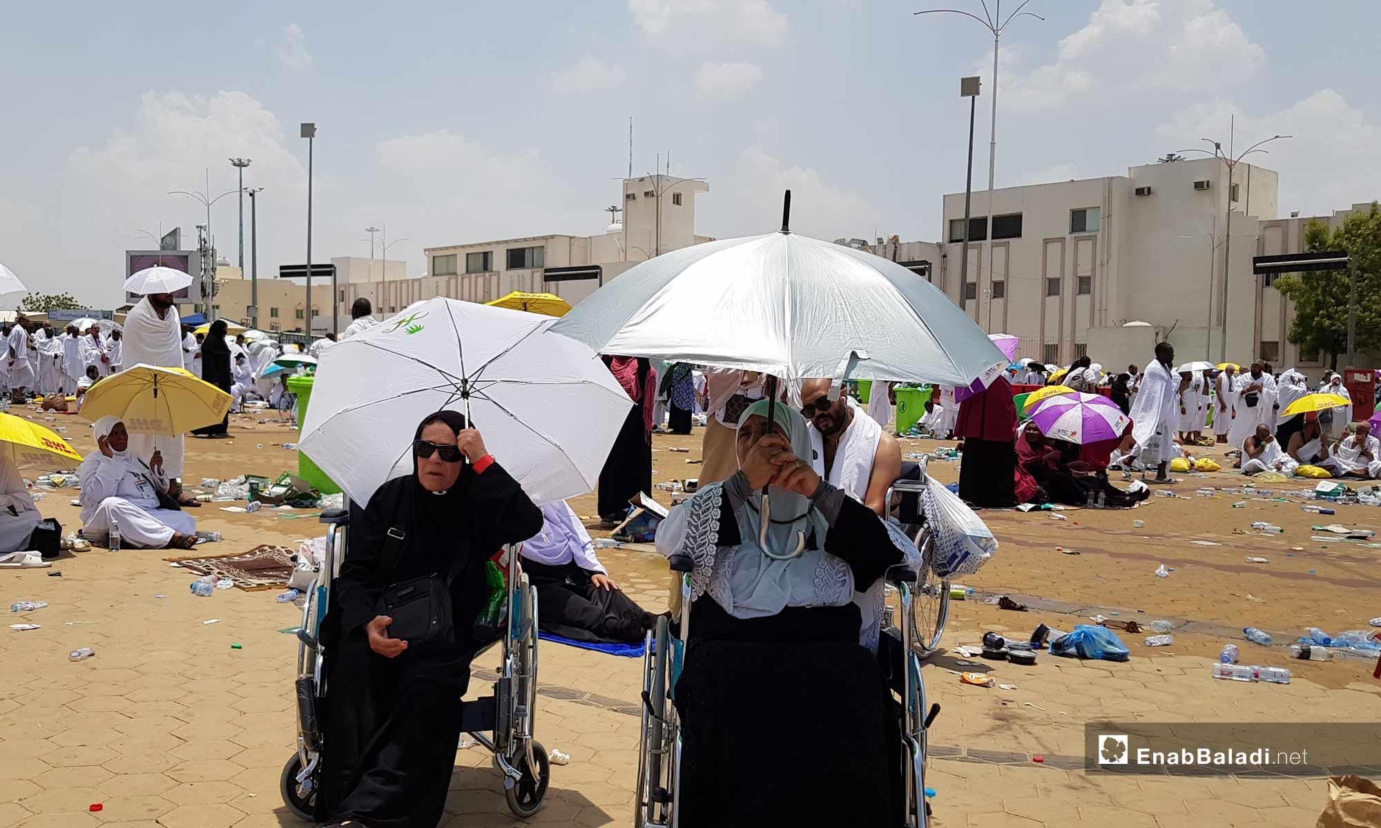 الحجاج يقفون على صعيد عرفات- 10 من آب 2019 (عنب بلدي)