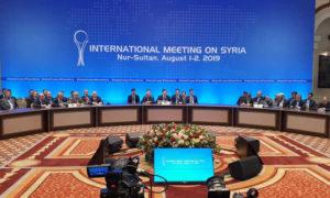 جولة محادثات أستانة 13 حول سوريا بمشاركة روسيا وتركيا وإيران في آب 2018 (وزارة الخارجية الكازخاستانية)