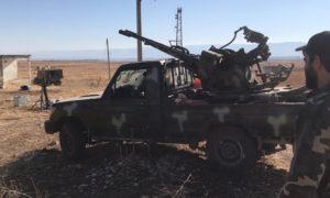 مضاد أرضي لقوات النظام السوري على جبهة ريف حماة الشمالي (oleg blokhin)