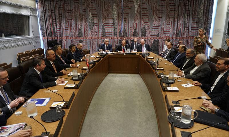 اجتماع وزراء خارجية الدول الضامنة في نيويورك- 24 أيلول 2019 (الخارجية الروسية)