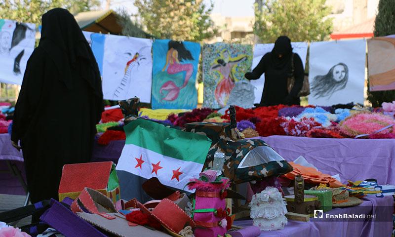 معرض للأشغال اليدوية في مدينة الباب شرق حلب - 12 من أيلول 2019 (عنب بلدي)