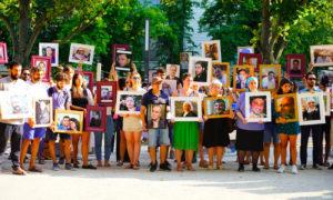 مواطنون سوريون يتظاهرون مقابل السفارة الروسية في برلين - 1 أيلول 2019 (عائلات من أجل الحرية)