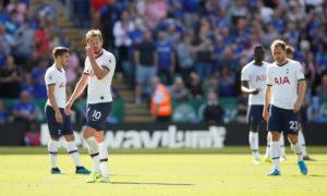 نادي توتنهام يتلقى خسارة على يد ليستر سيتي في الدوري الإنجليزي الممتاز (رويترز)