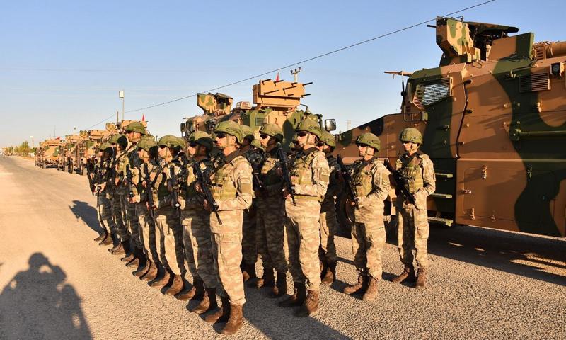 عناصر من القوات التركية في الأراضي السورية شمال شرقي سوريا- 8 من أيلول 2019 (وزارة الدفاع التركية)