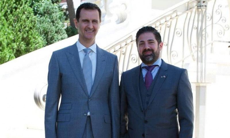 وسيم الرملي برفقة رئيس النظام السوري بشار الأسد - 2017 (Waseem Ramli فيس بوك)