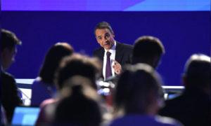 رئيس الوزراء اليوناني كيرياكوس ميتسوتاكيس - 8 أيلول 2019 (رويترز)