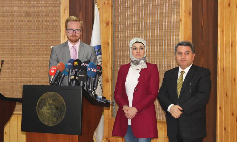 وفد من مجلس العموم البريطاني يزور مناطق الإدارة الذاتية شرق سوريا- 17 من أيلول 2019 (الإدارة الذاتية)