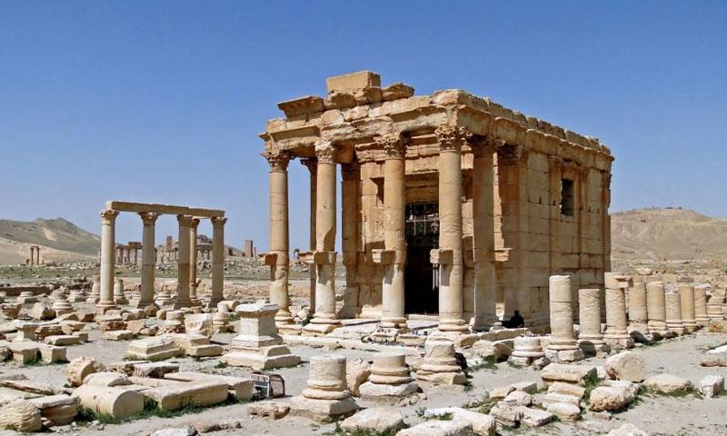 معبد بعل شمين الأثري في تدمر (newpalmyra.org)