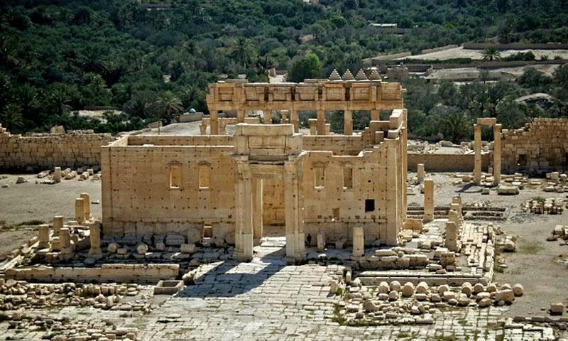 معبد بعل شمين الأثري في تدمر (وزارة السياحة السورية)