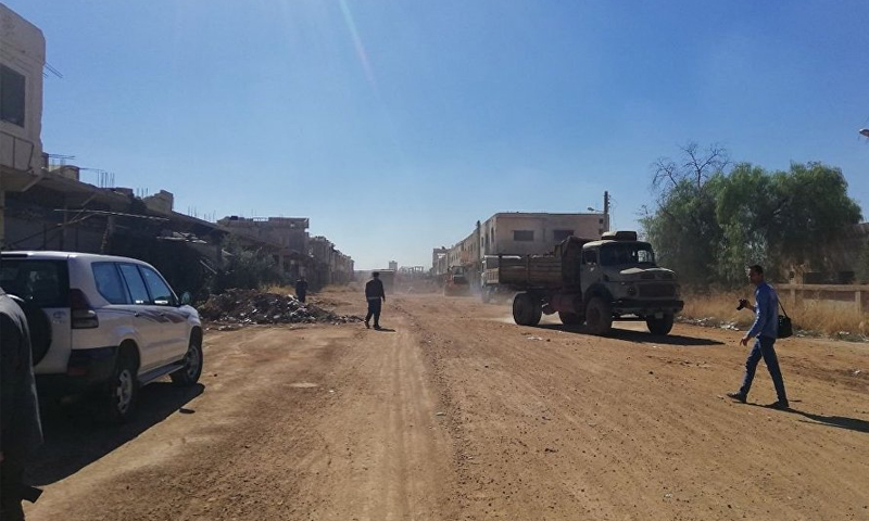 مخيم فلسطين في محافظة درعا (سبوتنيك)