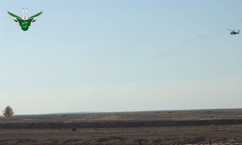 مناورات للتحالف الدولي في منطقة التنف على الحدود السورية الأردنية - 17 من أيلول 2019 (جيش مغاوير الثورة)