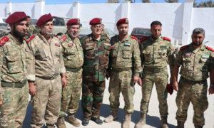 """وزير الدفاع في """"الحكومة السورية المؤقتة"""" سليم إدريس يزور تشكيلات """"الجيش الوطني"""""""