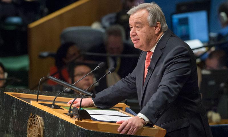 الأمين العام للأمم المتحدة أنطونيو غوتيريش (UN)