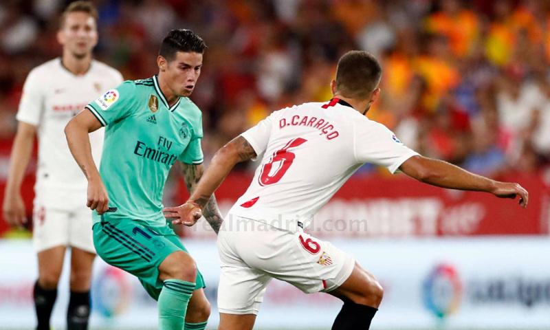 خاميس رودريغز في مواجهة إشبيلية بالدوري الإسباني (ريال مدريد)