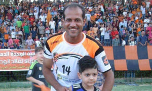 اللاعب السوري ماجد الحاج لاعب نادي المحافظة الحالي ولاعب الوحدة السابق (ماجد الحاج فيسبوك)