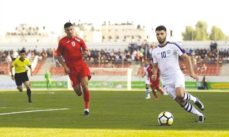 من مواجهة المنتخب الفلسطيني وأوزبكستان