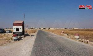 معبر أبو الضهور في ريف إدلب الشرقي - 14 من أيلول 2019 (سانا)