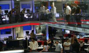 غرفة الأخبار في تلفزيون المستقبل - (المستقبل)