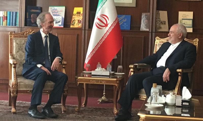 وزير الخارجية الإيراني يلتقي المبعوث الأممي إلى سوريا في طهران- 3 أيلول 2019 (البعثة الأممية إلى سوريا في تويتر)