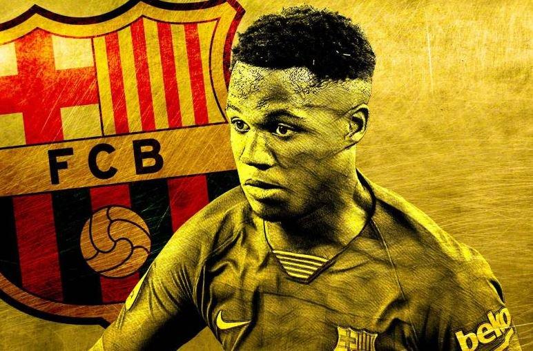 أنسو فاتي موهبة نادي برشلونة الإسباني (ليكيب)