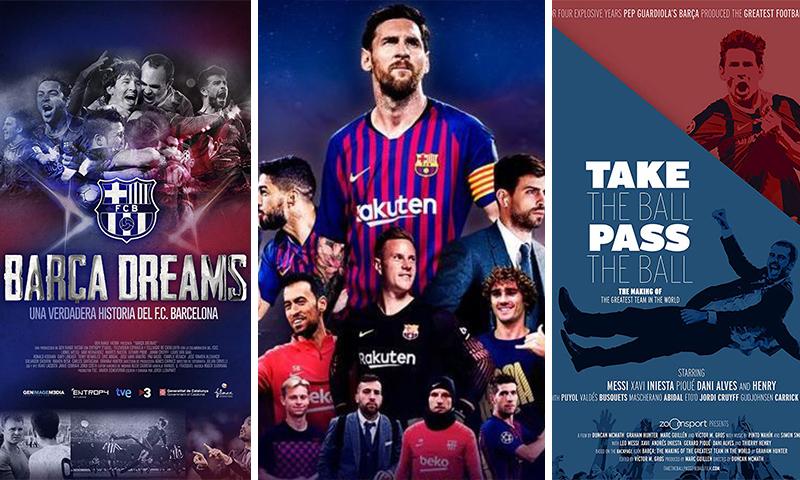الملصقات الإعلانية لأعمال فنية تحدثت عن برشلونة (تعديل عنب بلدي)