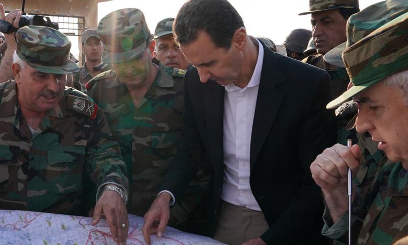 رئيس النظام السوري في بلدة الهبيط بريف إدلب الجنوبي (رئاسة الجمهورية)