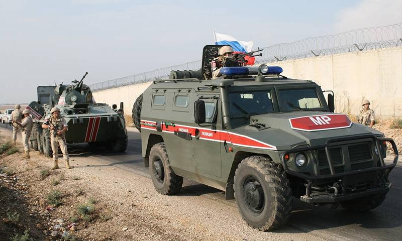 دوريات روسية على طول الحدود مع تركيا (تاس)