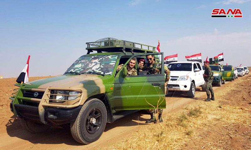 وحدات من قوات النظام تدخل لقرى في محيط الحسكة (سانا)