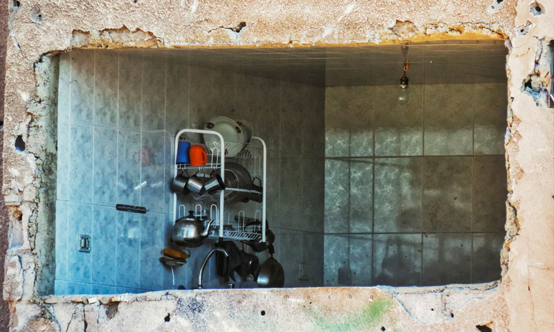 نافذة لمطبخ في العاصمة السورية دمشق - 11 أيلول 2019 (عدسة شاب دمشقي)