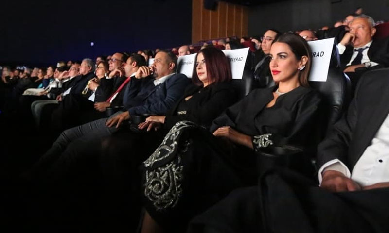 مشاركون في الحفل الختامي لمهرجان مالمو للأفلام العربية - 8 تشرين الأول 2019 (صفحة المهرجان في فيس بوك)