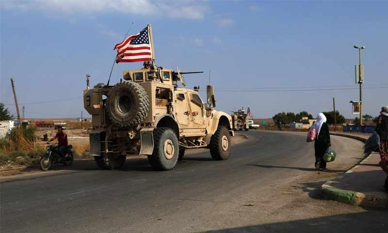 قافلة من القوات الأمريكية تتجه نحو الحدود السورية مع العراق- 20 من تشرين الأول 2019 (نيويورك تايمز)