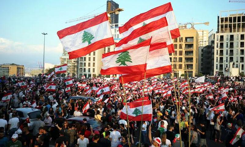 الاحتجاجات في لبنان (رويترز)