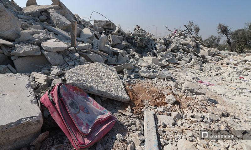 """مكان عملية الإنزال الجوية الأمريكية التي قتل بموجبها زعيم تنظيم """"الدولة الإسلامية"""" أبو بكر البغدادي في منطقة باريشا بريف إدلب الشمالي (عنب بلدي)"""