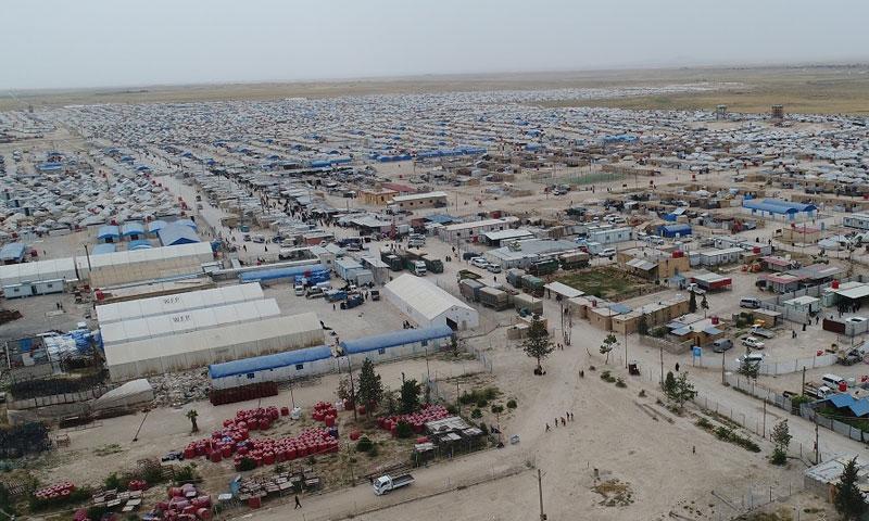مخيم الهول للنازحين السوريين في ريف الحسكة بمناطق شمال شرقي سوريا (هاوار)
