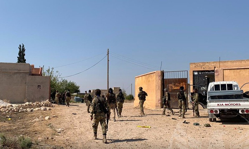 """عناصر """"الجيش الوطني"""" في مناطق شمال شرقي سوريا (الجيش الوطني تلغرام)"""