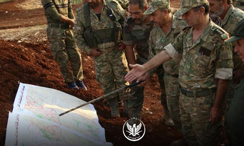 ضباط من الجبهة الوطنية للتحرير على جبهات ريف إدلب الجنوبي - 23 من تشرين الأول 2019 (الجبهة الوطنية)