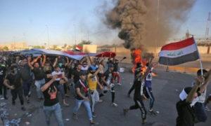 مظاهرات في بغداد تطالب بإنهاء الفساد الحكومي (BBC)