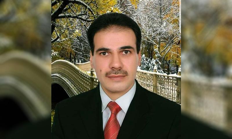 قصي الحلقي رئيس اللجان الشعبية في مدينة جاسم بدرعا (فيس بوك )