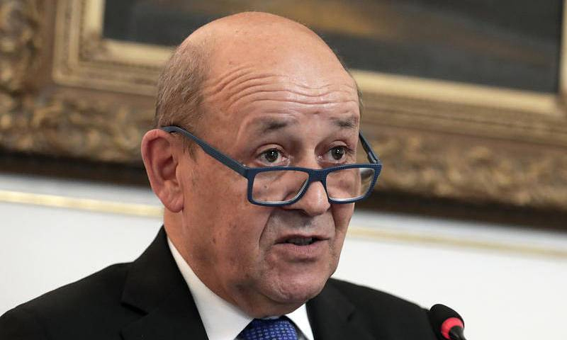وزير الخارجية الفرنسي، جان إيف لودريان (EPA)