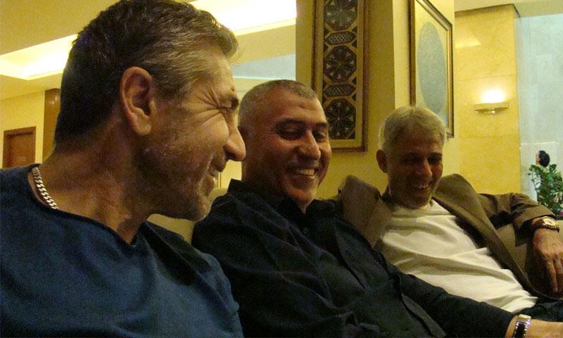 محمد عفش- نزار محروس- عبد القادر كردغلي 5 تشرين الأول 2019 (صفحة لطفي برس على فيس بوك)